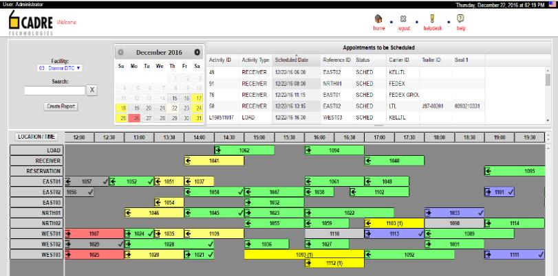 CADRE Dock Scheduler