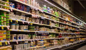 Supermarket Dairy Aisle